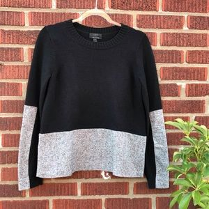 J Crew Cashmere Blend Woven Panel Sweater